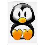 Pingüino lindo del bebé - Customizeable Tarjeta