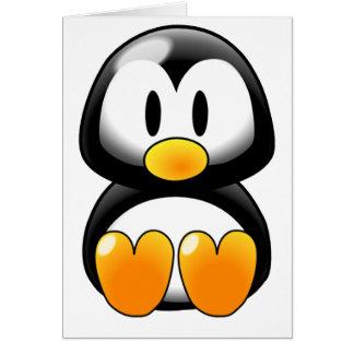 Pingüino lindo del bebé - Customizeable Tarjeta De Felicitación