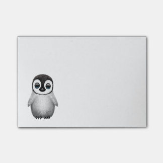 Pingüino lindo del bebé nota post-it