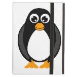 Pingüino lindo del dibujo animado blanco y negro