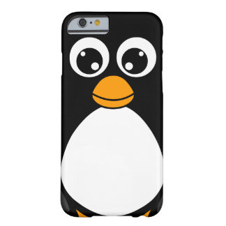 Pingüino lindo del dibujo animado blanco y negro funda de iPhone 6 barely there