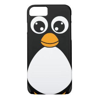 Pingüino lindo del dibujo animado blanco y negro funda iPhone 7