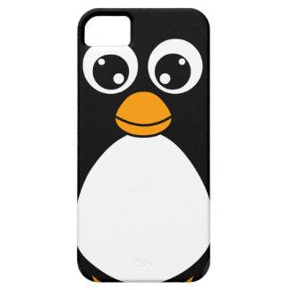Pingüino lindo del dibujo animado blanco y negro iPhone 5 carcasa