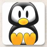 Pingüino lindo del dibujo animado del bebé posavasos