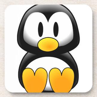 Pingüino lindo del dibujo animado del bebé posavasos de bebida