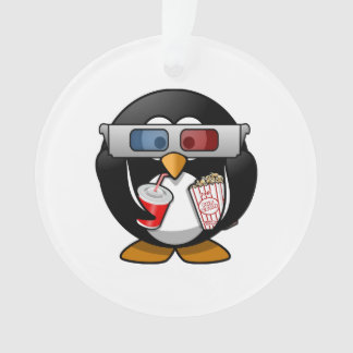 Pingüino lindo del dibujo animado en las películas