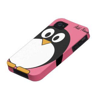 Pingüino lindo del dibujo animado - iPhone 4 4s Vibe iPhone 4 Funda