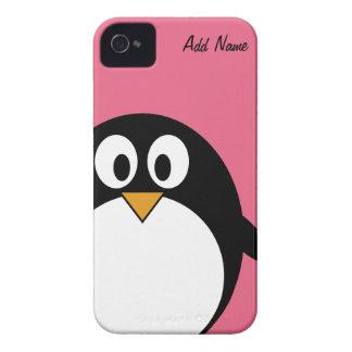 Pingüino lindo del dibujo animado - iPhone 4 4s Case-Mate iPhone 4 Carcasa