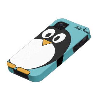 Pingüino lindo del dibujo animado - iPhone 4 4s Vibe iPhone 4 Carcasas