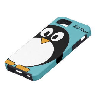 Pingüino lindo del dibujo animado - iPhone 5 iPhone 5 Case-Mate Protectores