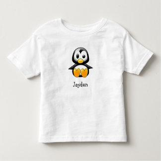 Pingüino lindo del dibujo animado personalizado playera de bebé