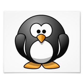 Pingüino lindo del dibujo animado fotografia