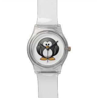 Pingüino lindo del dibujo animado relojes de mano