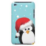Pingüino lindo del navidad Case-Mate iPod touch fundas