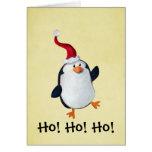 Pingüino lindo del navidad tarjetas