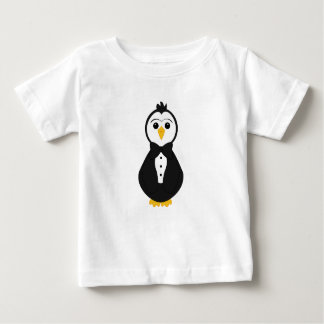 Pingüino lindo del novio tee shirts
