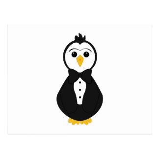 Pingüino lindo del novio tarjetas postales