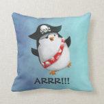 Pingüino lindo del pirata almohada