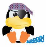 Pingüino lindo del pirata de Goofkins Escultura Fotográfica