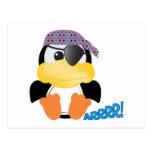 Pingüino lindo del pirata de Goofkins Postales