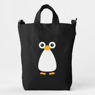Pingüino lindo del vector bolsa de lona duck