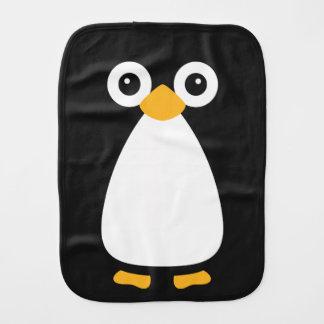 Pingüino lindo del vector paños para bebé