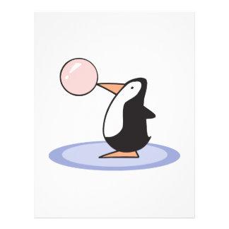 pingüino lindo divertido del chicle tarjetas publicitarias