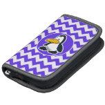Pingüino lindo en Chevron violeta azul Planificadores