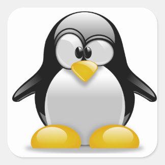 Pingüino lindo en un pegatina de Tux