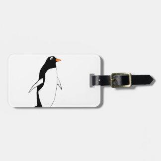 Pingüino lindo etiquetas para maletas
