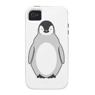 Pingüino lindo Case-Mate iPhone 4 carcasas