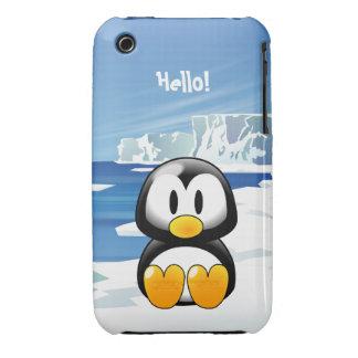 Pingüino lindo Case-Mate iPhone 3 cárcasas
