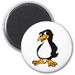 Pingüino lindo imán