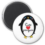 Pingüino lindo imán para frigorifico