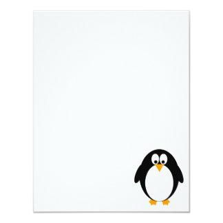 "Pingüino lindo invitación 4.25"" x 5.5"""