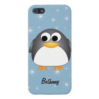 Pingüino lindo iPhone 5 carcasas