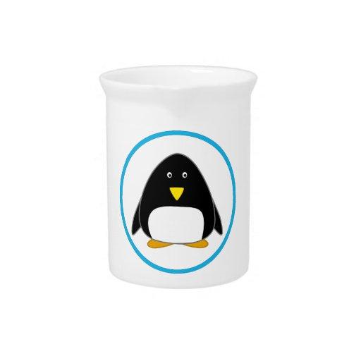 Pingüino lindo jarrón