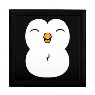 Pingüino lindo joyero cuadrado grande