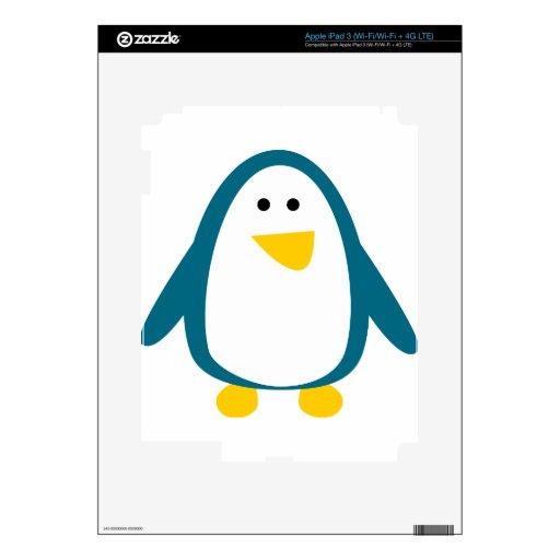 Pingüino lindo pegatina skin para iPad 3