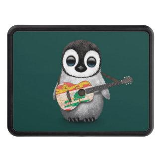 Pingüino lindo que juega el trullo de la guitarra tapa de tráiler