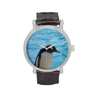 Pingüino lindo reloj de mano