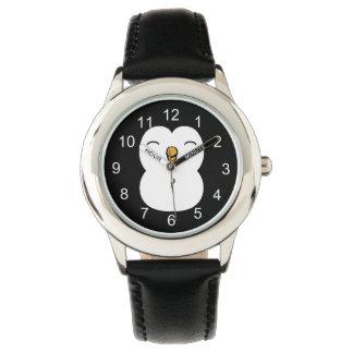 Pingüino lindo reloj