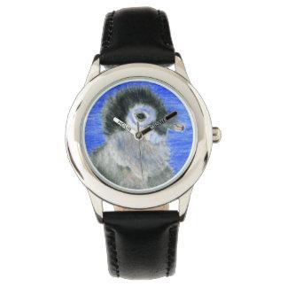 Pingüino lindo relojes de pulsera