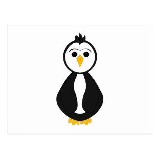 Pingüino lindo postal