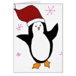 Pingüino lindo tarjetón