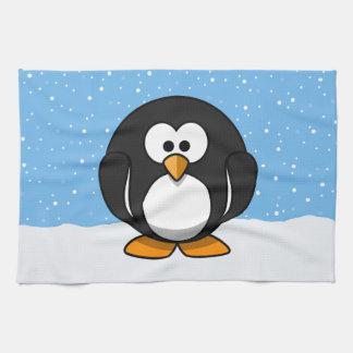 Pingüino lindo toallas de cocina