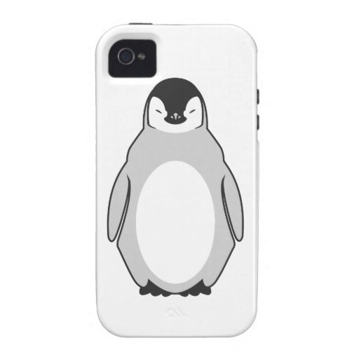 Pingüino lindo vibe iPhone 4 fundas