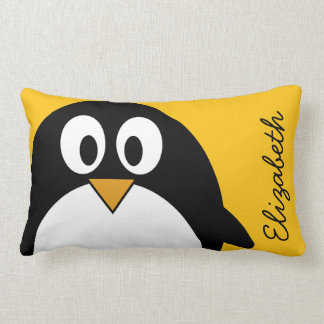 Pingüino lindo y moderno del dibujo animado almohadas