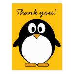 Pingüino lindo y moderno del dibujo animado tarjetas postales