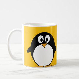 Pingüino lindo y moderno del dibujo animado tazas de café